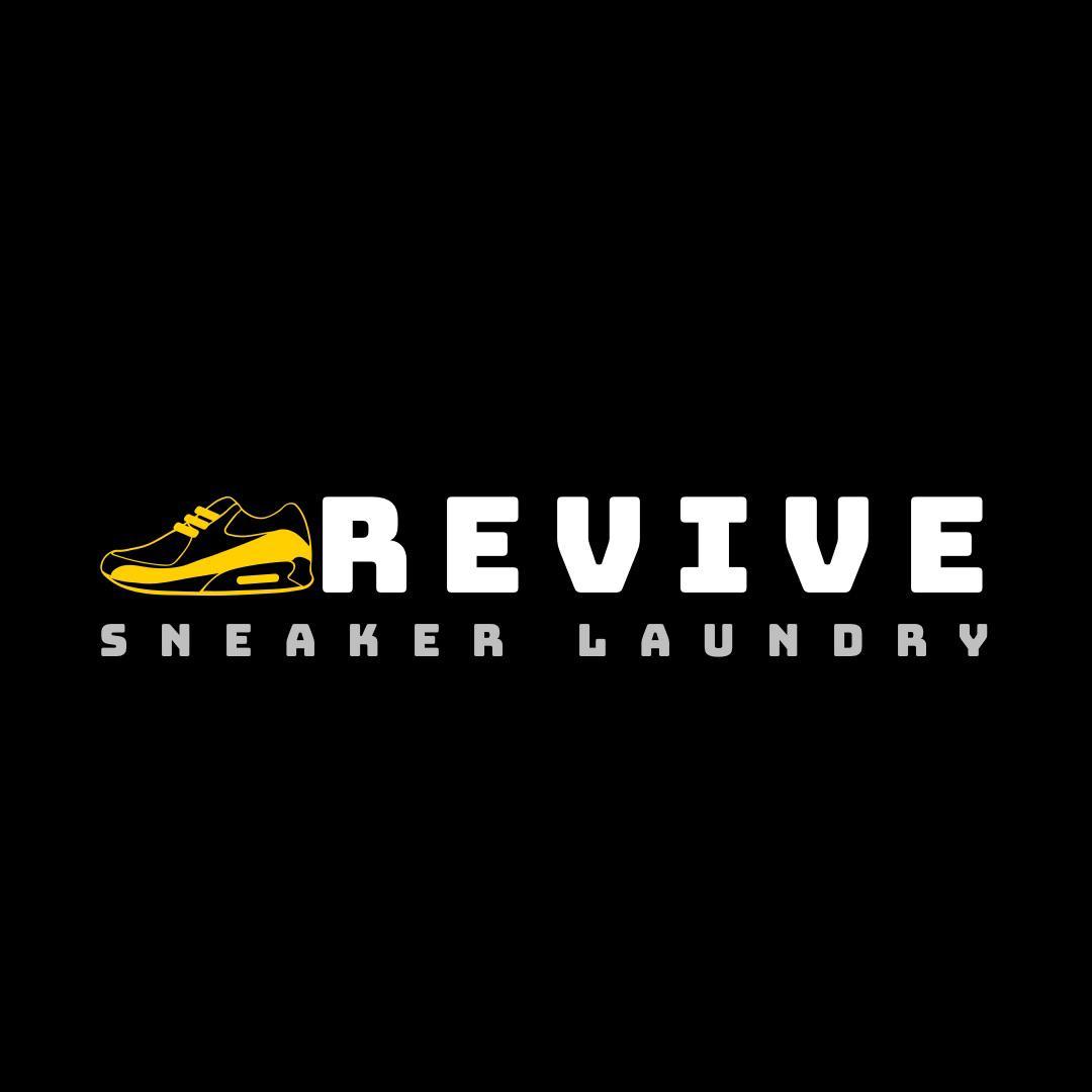 Revive sneaker laundry logo in black